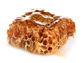 Favos de mel saborosos isolados no branco — Foto Stock