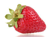 Sweet strawberry isolated on white — Stock Photo