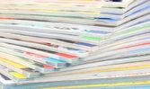 Stack of magazines closeup — Stock Photo