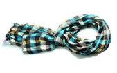 Beautiful scarf isolated on white — Stock Photo