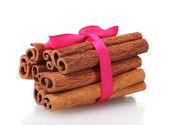 Cinnamon sticks isolated on white — Stock Photo