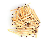 Pile of matches isolated on white — Stock Photo