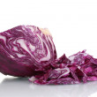 Sliced red cabbage isolated on white — Stock Photo #8372096