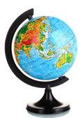 Globe in Ukrainian language isolated on white — Stock Photo