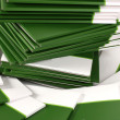 Stock Photo: Many green folders closeup