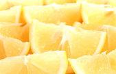 Freshly sliced lemons closeup — Stock Photo