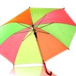 Multi-colored umbrella isolated on white — Stock Photo #8519879
