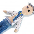 Voodoo doll boy isolated on white — Stockfoto