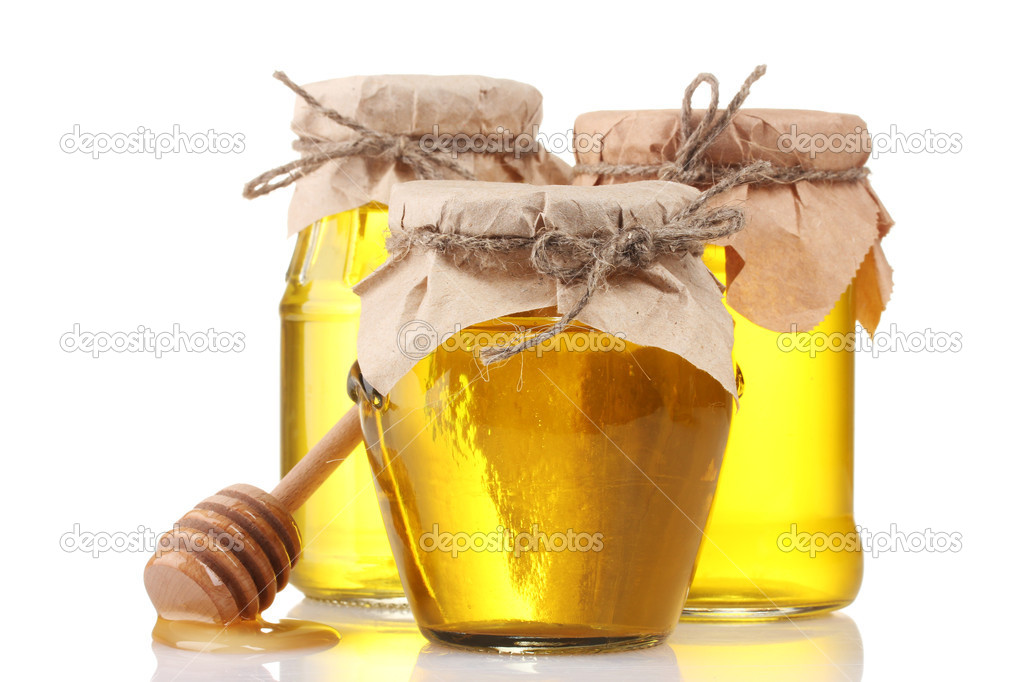 Honey isolated on white — Stock Photo #8564331