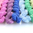 Stock Photo: Sewing threads for embroidery isolated on white