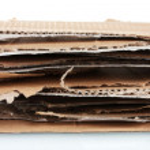 Torn cardboard closeup — Stock Photo