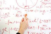 Writing on the whiteboard formulas, closeup — Stock Photo
