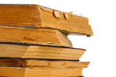 Pile of old books closeup — Stock Photo
