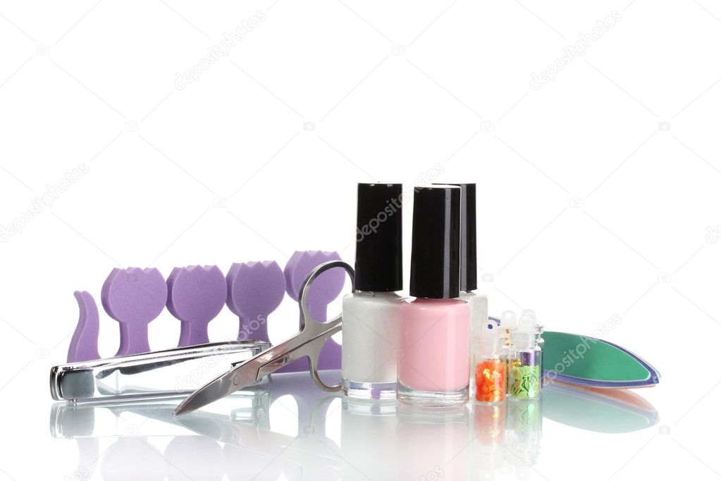Pedicure set isolated on white — Stock Photo #8681194