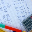 Stockfoto: Math on copybook page closeup