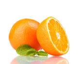 Saboroso mandarine isolado no branco — Fotografia Stock
