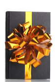 Black book for gift isolated on white — Stok fotoğraf