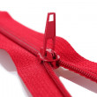 Red zipper closeup — Stock Photo #8787147