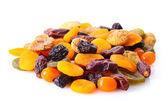 Torkad frukt isolerad på vit — Stockfoto