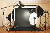 Interior of professional photo studio — Stock Photo