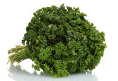Fresh bunch of parsley isolated on white — Stock Photo