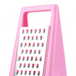 Pink grater isolated on white — Stock Photo