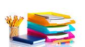 Pappersvaror isolerad på vita och ljusa pappersfack — Stockfoto