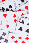 Cards close-up isolated on white — Zdjęcie stockowe