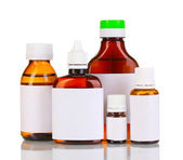 Medical bottles isolated on white — Stock Photo