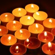 Stock Photo: Beautiful candles and decor on wooden table