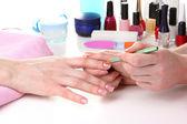 Proceso en el hermoso salón de manicura — Foto de Stock