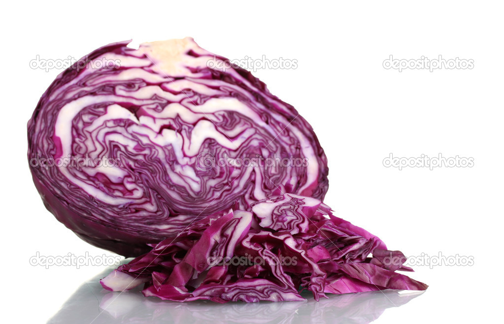 Sliced red cabbage isolated on white — Stock Photo #9056021