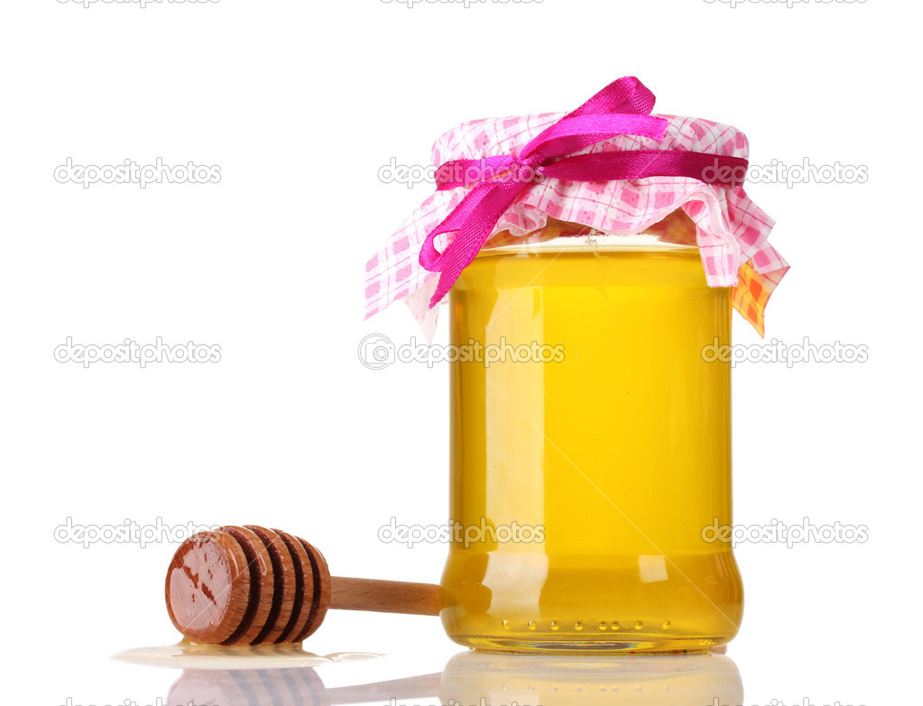 Honey isolated on white — Stock Photo #9056381