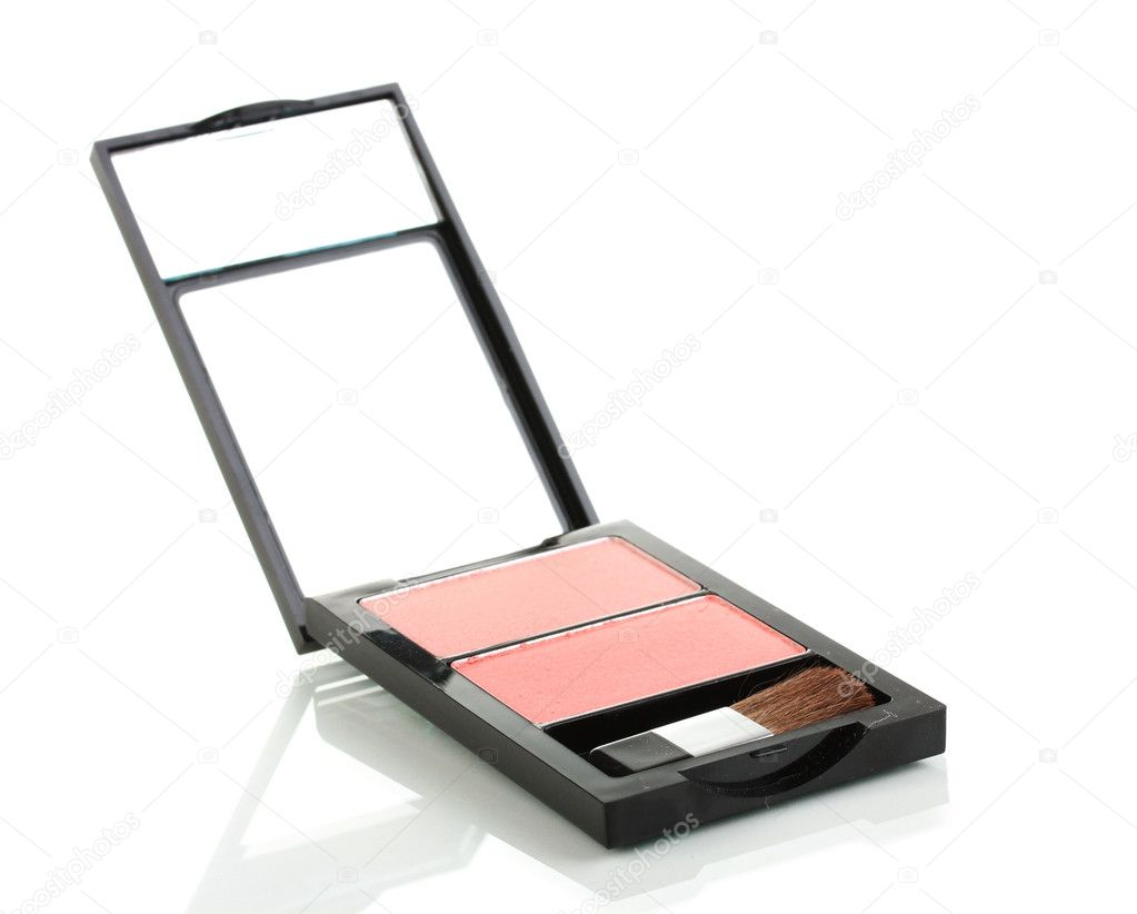Make-up blusher in box isolated on white — Stock Photo #9076568