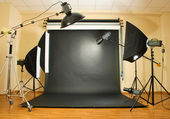 Interior of professional photo studio — Stock Photo