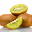 Juicy kiwi fruits isolated on white — Stock Photo #9128826