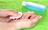 Processo di manicure — Foto Stock