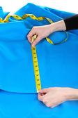 Kadın ölçüm kumaş — Stok fotoğraf