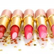 Beautiful lipsticks isolated on white - Stock fotografie
