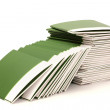 Many green folders isolated on white — Stock Photo