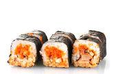 Delicious sushi isolated on white — Stockfoto