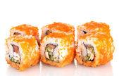 Utsökt sushi isolerad på vit — Stockfoto