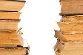 Stapel boeken van oude close-up — Stockfoto