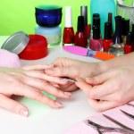 Manicure process in beautiful salon — Stock Photo #9334532