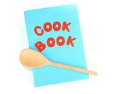 Синий кулинарной и кухонные принадлежности, изолированные на белом фоне — Стоковое фото