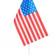 American flag on the stand isolated on white — Stock Photo