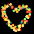 Bright heart bokeh background — 图库照片