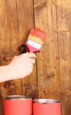 Ahşap çit boyama — Stok fotoğraf