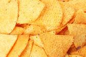 Tasty potato chips close up — Stock Photo