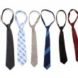 Stock Photo: Ties isolated on white